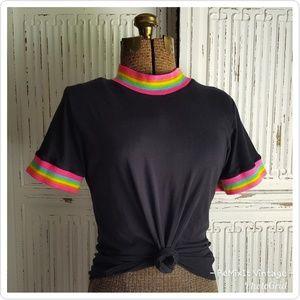 Big Bud Press Vintage Inspired Tee Shirt Rainbow